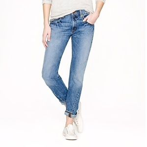 J crew distressed boyfriend jeans